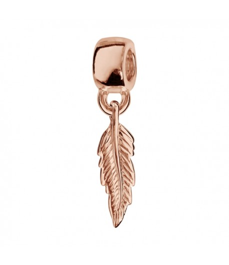 Pendentif Charms coulissant PLOR rose plume