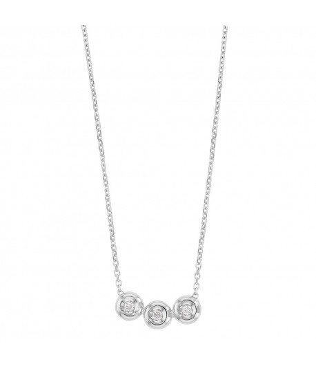 Collier OR gris 750 trilogie