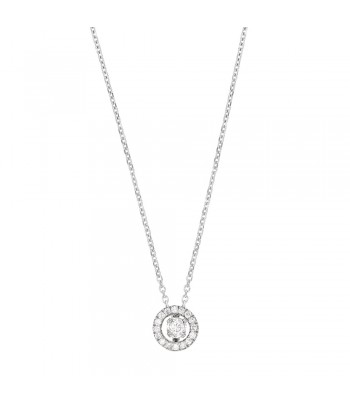 Collier OR gris 750 diamant