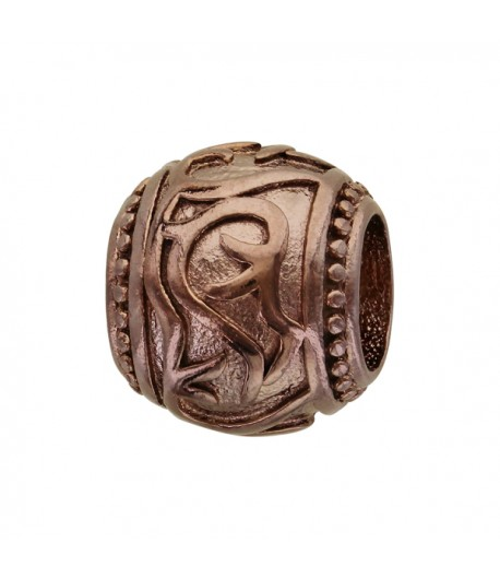 Charms ACIER Motif TRIBAL Marron