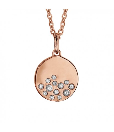 Collier PLOR rose rond oxydes