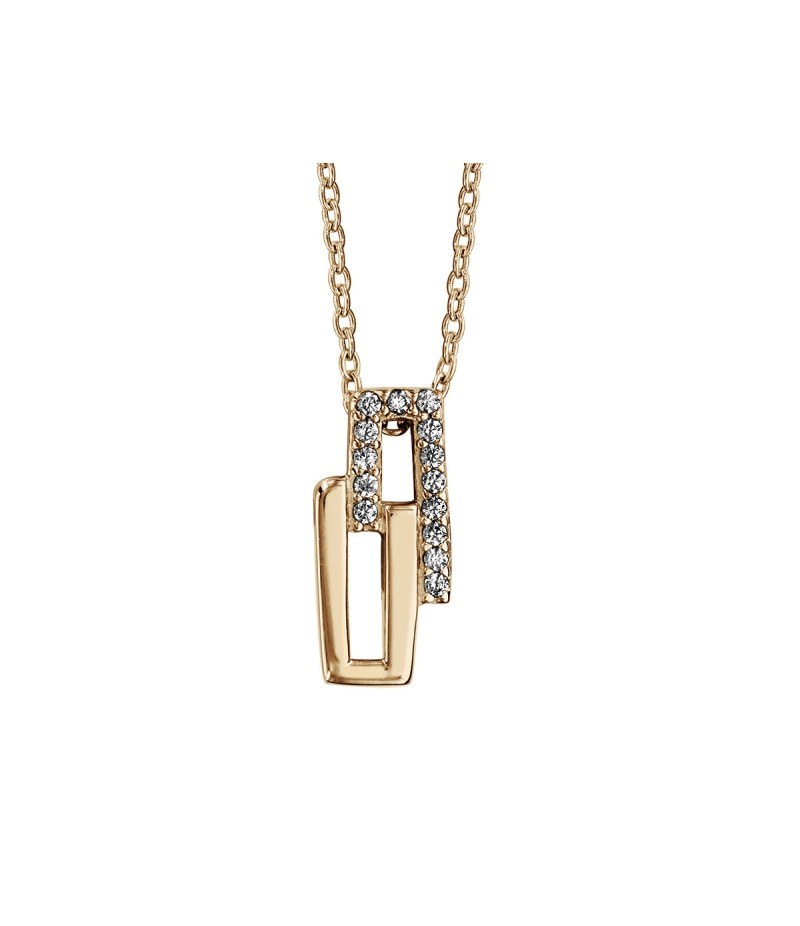 Collier PLOR rectangles oxydes